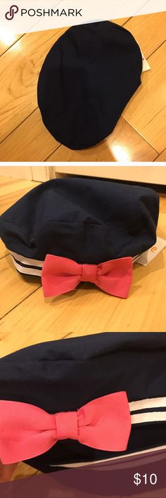 NWT 12-24 month Sailor cap NWT. Darling. Classic but with bright pink bow! Smoke free home. Bundle me please! Gymboree Accessories Hats
