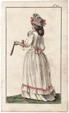 Journal des Luxus, 1791. How adorable is the little peplum on that jacket!?