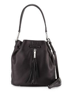 b4361b4124fe Elizabeth and James Cynnie Lamb Tassel Mini Bucket Bag