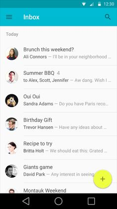 Android Material Design | Inbox