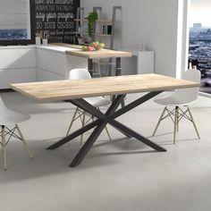Tavolo da cucina Deryck in legno massello | TAVOLI ALLUNGABILI E ...
