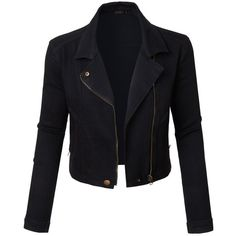 Designer Clothes, Shoes & Bags for Women Denim Biker Jacket, Sweater Jacket, Dr Shoes, Vintage Jacket, Vintage Biker, Vintage Denim, Stylish Jackets, Cotton Jacket, Mode Outfits