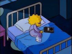 When she was listening to some sad, emotional music to vent out her feelings. 21 Times Lisa Simpson Was A Big Fucking Mood Lisa Simpson, Simpson Wave, Kat Von D, Simpson Tumblr, Los Simsons, Simpsons Quotes, The Simpsons Tumblr, Simpsons Cartoon, Hipster Vintage