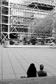 Centre Pompidou Beaubourg #PARIS Pompidou Paris, Centre Pompidou, Renzo Piano, Public Spaces, Architecture, Paris France, Louvre, Europe, Explore