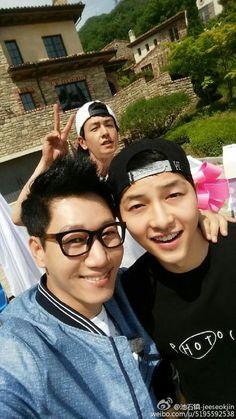 "Running Man. [150614] Suk Jin's Weibo update ""정말 반가웠어~"""
