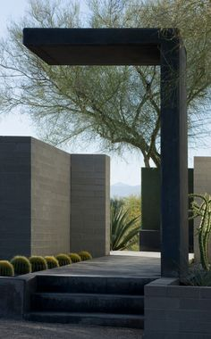 v-architecture-photos: moltz landscape ~ ibarra rosano design architects Green Design, Design Entrée, House Design, Architecture Design, Landscape Architecture, Landscape Design, Desert Landscape, Exterior Design, Interior And Exterior