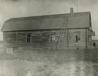 Iitin Haapakimolan työväenyhdistyksen talo.  Sallila, Emil, valokuvaaja 1925