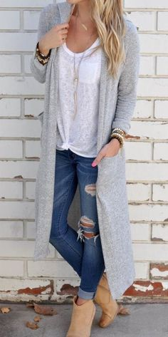 Stylish Outfit Idea With Cuffed Jeans