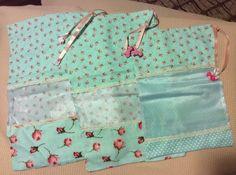 Saquinhos para maternidade em algodão e organza.