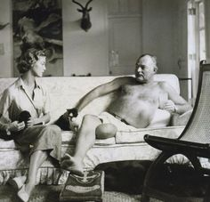 Jean Patchett with Ernest Hemingway, 1950 by Clifford Coffin