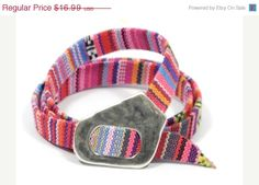 EASTER SALE wrap surfer bracelet * ethnic fuscia fabric bracelet * pink aztec fabric * gifts for mom * ethnic jewelry * gifts for friends