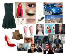 """""""Moving Out"""" by alyssalapresta on Polyvore featuring Christian Louboutin, WalG, Jeffree Star and Michael Kors"""