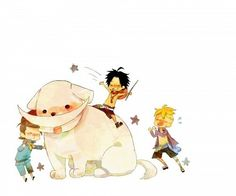 Whitebeard, Marco and Ace #one piece