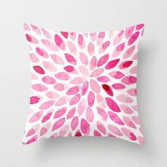 Buy your Throw Pillow made from 100% spun polyester poplin fabric, a stylish statement that will liven up any room. Individually cut and sewn by hand, each pillow features a double-sided print and is finished with a concealed zipper for ease of care.  Sold with or without faux down pillow insert. #throwpillow #homedecor #watercolors #brushstrokes #modern #abstract #interiordesign #pink #painting #symmetry #pillow #society6 #decorative #decoration #pillowcase