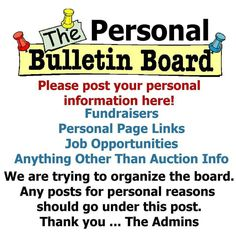 Personal bulletin board information fundraisers jobs etc