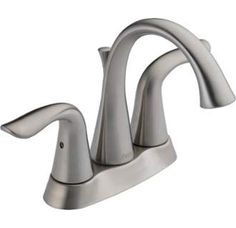 View the Delta 2538-MPU-DST Lahara Centerset Bathroom Faucet with Diamond Seal Technology - Free Drain Assembly with Purchase at Build.com.
