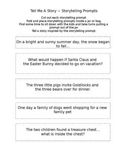 A storytelling prompt tool for families.