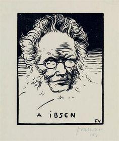 Félix Vallotton, A Ibsen, 1894 | woodcut