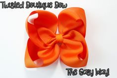"""Still having trouble making the TBB? Try this method! """"Twist up, Twist down....BAM DONE!"""" How to make the Twisted Boutique bow (EASY!) Check out my other vid..."""