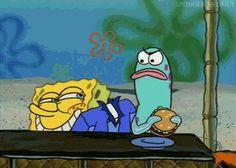 "When Spongebob disturbed this restaurant goer. | 36 Times ""Spongebob"" Made Absolutely No Sense At All"