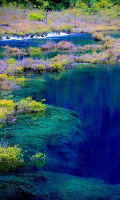 Jiuzhaigou Valley Scenic and Historic Interest Area in China.
