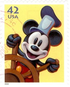 USA - Stamp, 2008 42c Mickey Mouse