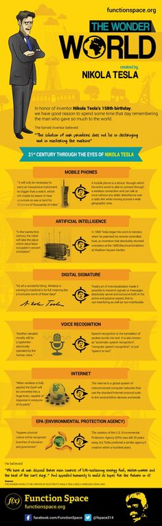 Love this infographic on Nikola Tesla.