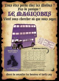 affiche magicobus                                                                                                                                                                                 Plus Harry Potter Fiesta, Décoration Harry Potter, Classe Harry Potter, Harry Potter Cosplay, Harry Potter Halloween, Harry Potter Anime, Harry Potter Birthday, Harry Potter Sequence, Jarry Potter