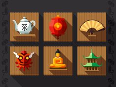 Buy Chinese Culture Symbols and Elements by Tastyvector on GraphicRiver. Simbols and elements traditiomal chinese culture Game Icon, Icon Set, Game Design, Icon Design, Ui Design, Graphic Design, Ancient Chinese Architecture, Magic Day, New Year Greeting Cards