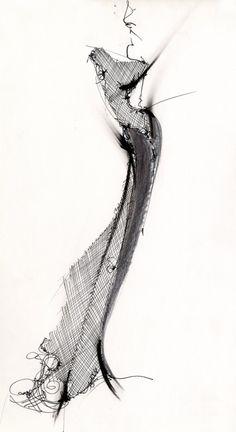 Fashion design sketch – stylish fashion illustration // Gianfranco Ferre - Best Fashions for All Fashion Illustration Sketches, Illustration Mode, Fashion Sketchbook, Fashion Design Sketches, Sketch Design, Sketch Fashion, Gianfranco Ferre, Ferrat, Fashion Portfolio