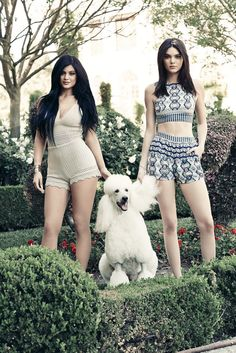 Kendall Jenner and Kylie Jenner modeling their Kendall + Kylie Collection for PacSun.