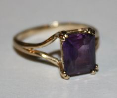 Vintage Amethyst Stackable Ring