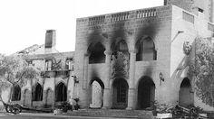 Προεδρικό Μέγαρο μετά το πραξικόπημα της 15ης Ιουλίου 1974. The Presidential residence after the coup in 15th July 1974 which lead to Turkey's invasion in Cyprus
