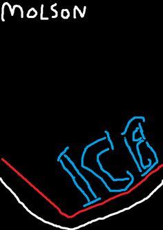 Molson Ice neon sign by PikachuxAsh on DeviantArt