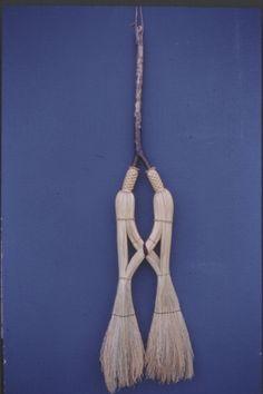 Cobweb marriage broom.