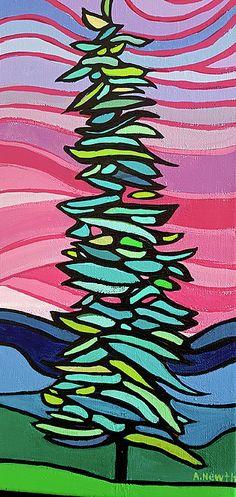 """Sunset Tree"", acrylic on wrapped canvas"