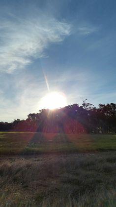 Sunlight sunset