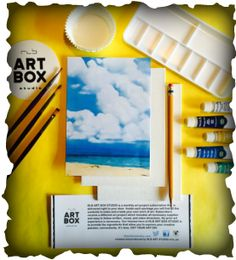 """May 2016 Art Box """"Clouds""""!!! Check out www.rlbartboxstudio.com to order yours now!!!!!"""