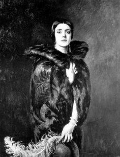MARY IRENE CURZON, BARONESS RAVENSDALE by William Bruce Ellis Ranken 1925. Since they had no sons the eldest daughter of American heiress Mary Victorian Leiter & Lord Curzon inherited her father's  Barony of Ravensdale.. She never married but had numerous affairs, including pianist Arthur Rubinstein, whom she claimed to have slept with on his wedding day.....