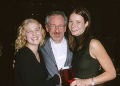 Pin for Later: From the '90s to Now, See Gwyneth Paltrow With Her Famous Friends  Gwyneth and Drew Barrymore met up with their godfather, Steven Spielberg, at a Hollywood luncheon in November 1999.