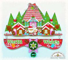 Doodlebug Design Inc Blog: Sugar Plum Collection: Warm Wishes Wall Decor by Jennifer