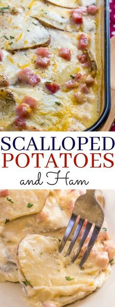 Creamy, cheesy and delicious this Scalloped Potatoes and ham is a delightful comfort food that is fun and filling for the whole family!