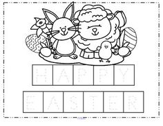 Easter Language Arts Activity Packet: This colorful