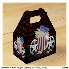 Technicolor Movie Night Gable Favor Box Holiday Cards, Christmas Cards, About Time Movie, Favor Boxes, Christmas Card Holders, Hand Sanitizer, Corporate Events, Keep It Cleaner, Colorful Backgrounds