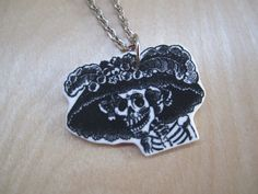 La Catrina  Plastic Pendant Necklace by iHeartit on Etsy, $12.50