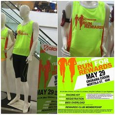 Join Ororama Run for Rewards Year 5 happening on May 29 and get to wear this Race Singlet  Just buy worth of Sponsors' Products and register for.
