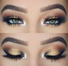 Beautiful eye makeup: