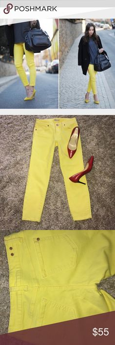 Cabi yellow jeans Great like new CABI SKINNY CROPPED CANARY YELLOW JEANS-2 CAbi Jeans