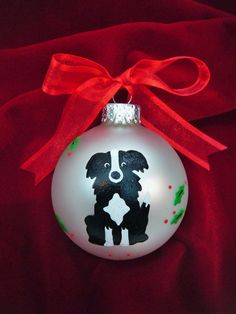 Border Collie Dog Ornament Personalized by BrushStrokeOrnaments