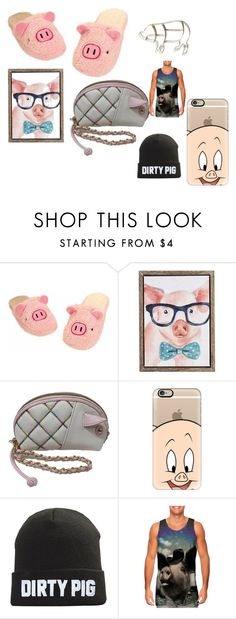"""me pig"" by ccrowley-2 ❤ liked on Polyvore featuring Pier 1 Imports, Betsey Johnson and Casetify"